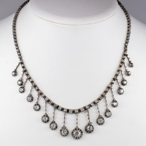 MAGNIFICENT VICTORIAN FRENCH  16.0 CT DIAMOND RARE DROP NECKLACE!