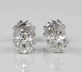 STUNNING 1.20 CT BRILLIANT CUT DIAMOND G VVS QUALITY DIAMOND STUDS