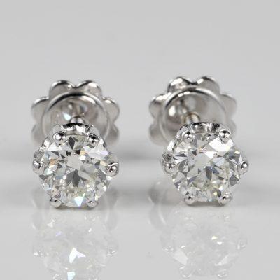 STUNNING 1.20 CT BRILLIANT CUT DIAMOND G VVS QUALITY DIAMOND STUDS!