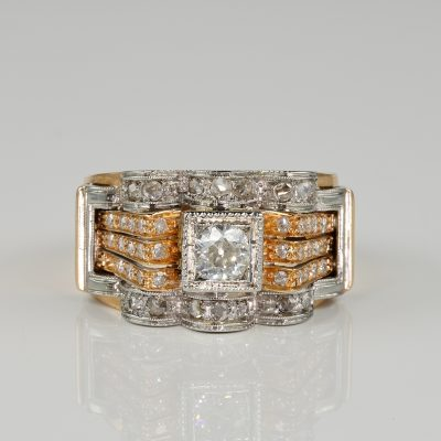 SPECTACULAR ART DECO DIAMOND DRESS RING