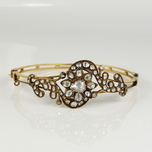 GEORGIAN OPULENCE OF ROSE CUT DIAMOND RARE BANGLE