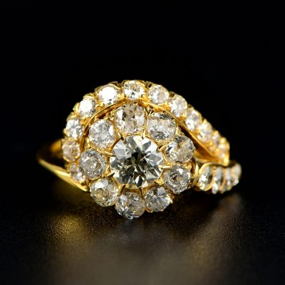 MAGNIFICENT VICTORIAN 2.70 CT TOURBILLON RING