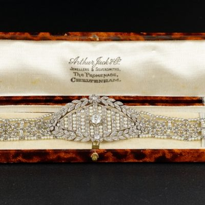 Belle Epoque Natural Seed Pearl Diamond Bracelet