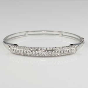 Sensational 1960 Triple Tier 2.0 Ct Diamond Bangle
