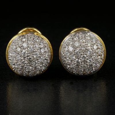 Adorable 2.30 Carat Diamond G VVS Ball Studs