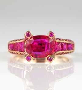 1.62 Carat Natural No heat Ruby Plus 1.95 Carat Rare Solitaire Ring