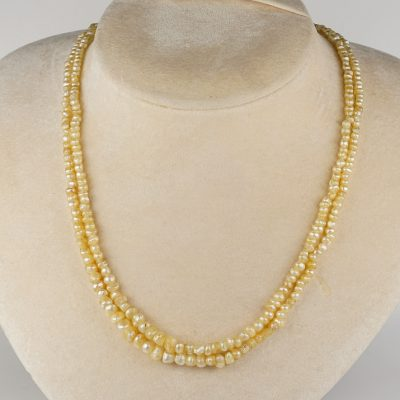 Georgian Double Strand Natural Basra Pearl Necklace