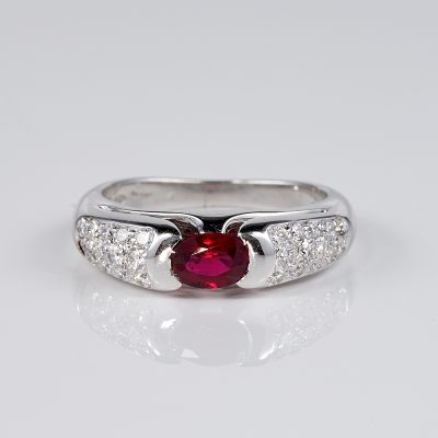 Iconic Bvlgari Ruby Diamond ring 1980 ca