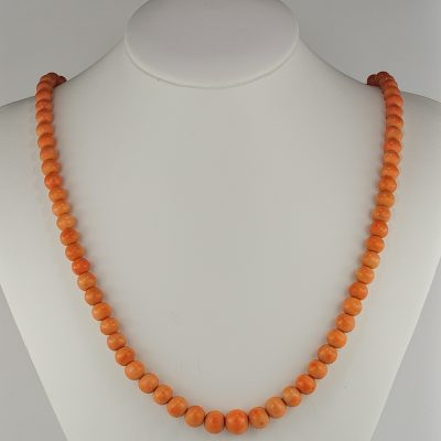 Victorian Single Strand Natural Coral Necklace