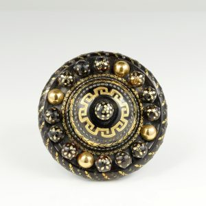 Victorian Tortoise Shell Gold Pique Jour brooch