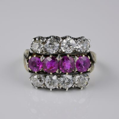Victorian Certified 2.0 Ct Burma Ruby 2.60 Ct Diamond Rarest Ring