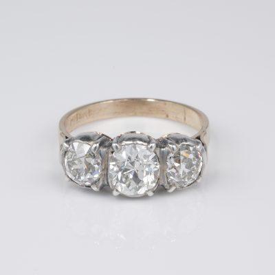Magnificent Rare Victorian 4.0 Ct Diamond Trilogy ring