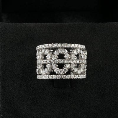 Spectacular 2.65 Ct G H VVS VS  Diamond Wide Band Ring