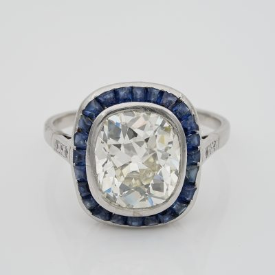 Rare Austrian Antique 5.15 Ct Diamond Solitaire Plus Platinum ring
