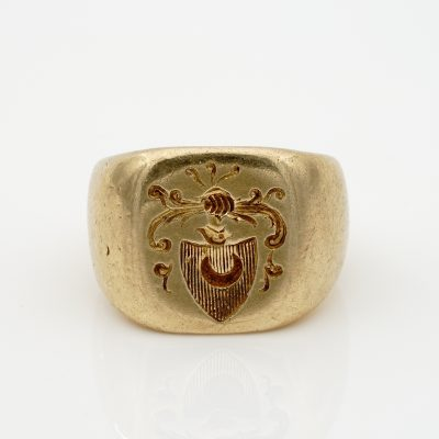 Victorian Gent Rare Signet Seal Ring15.3 grams 18 KT Solid Gold