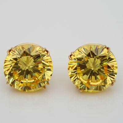 Exceptional Pair 41.60 Carat of Rare Mali Garnet Stud Earrings