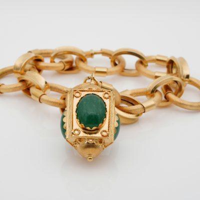 Superb 1960 Stylish Italian Charm Bracelet 18 KT Gold