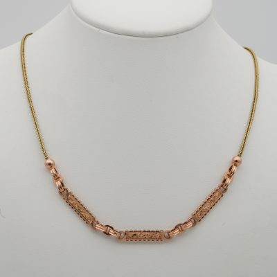Edwardian Exquisite 14 KT Solid Gold Watch Chain or Necklace