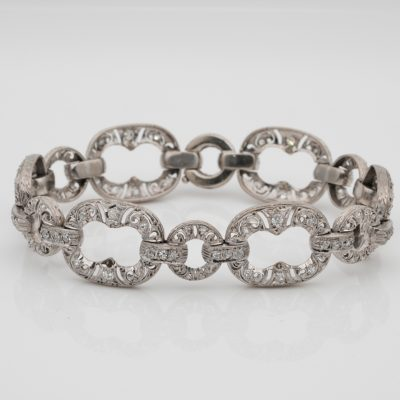 Art Deco 2.10 Ct Diamond Platinum Bracelet