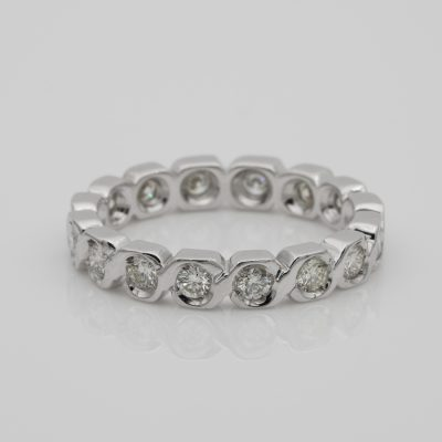 Sensational .75 Ct diamond full eternity ring