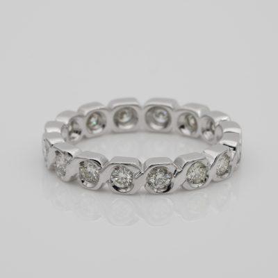 Estate .75 Ct diamond full eternity ring