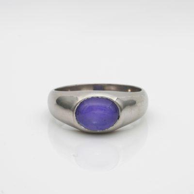 Art Deco 5.54 Ct Natural No Heat Ceylon Sapphire TIFFANY & CO Platinum Unisex Ring