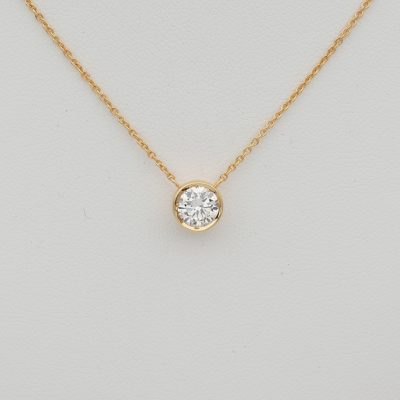 Classic .70 Ct G VVS Diamond pendant plus chain necklace