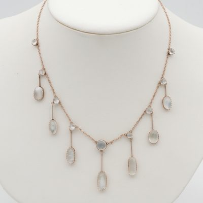 Victorian 23.0 Ct Natural Moonstone Necklace 18 KT gold