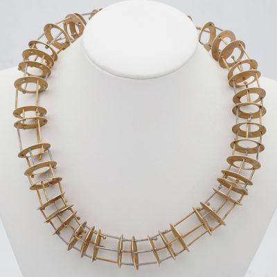Modernist Rare Avant-Garde French Necklace 18 Kt Art Piece