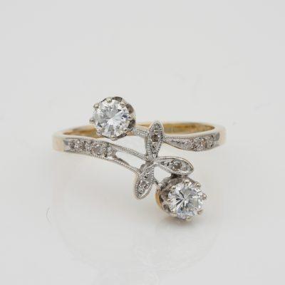 Art Nouveau .50 Ct Diamond You and Me ring