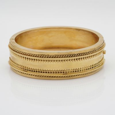 Victorian Etruscan Revival 15 KT Gold Cuff