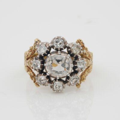 Regency Rare Diamond Cluster ring 1800 ca